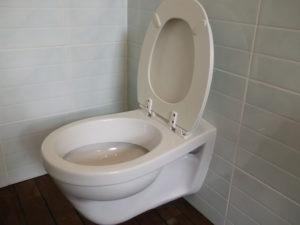 Falra szerelt wc átadás után