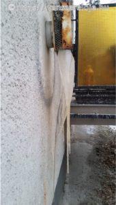 Befagyott konvektor parapet a IV. kerületben
